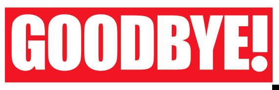 Goodbye Magazine Logo Design