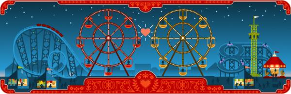 Google Ferris Wheel Logo Design