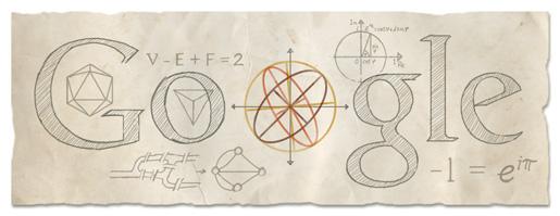 Euler Google Logo Design