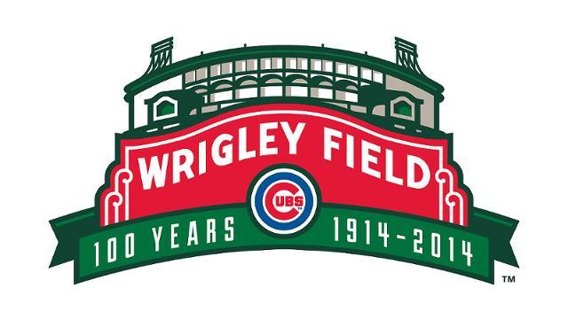 Wrigley Field 100 Logo Design