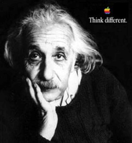 Einstein Think Different Logo Design Science