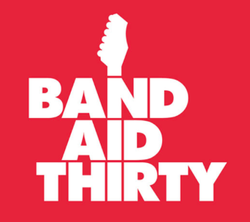 乐队援助30徽标设计