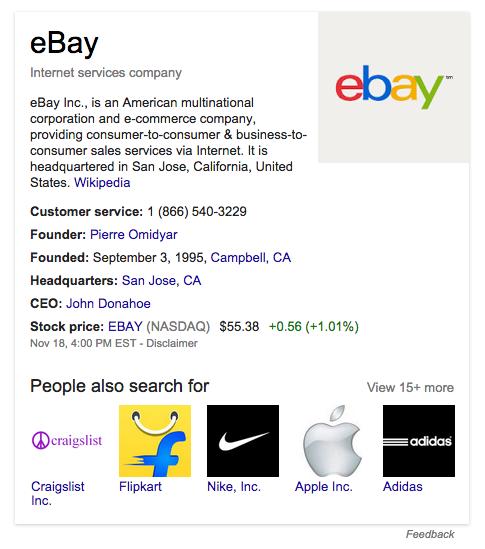 Ebay Search Box Schema.org