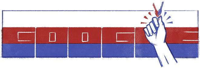 天鹅绒革命谷歌标志设计