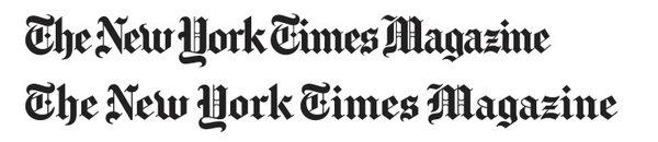 NYT杂志标志变更